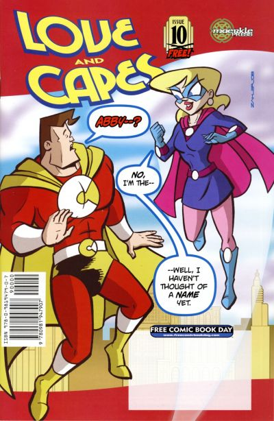 Cover for Love and Capes [Free Comic Book Day Edition] (Maerkle Press, 2007 series) #10