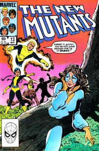 Cover Thumbnail for The New Mutants (Marvel, 1983 series) #13 [Direct Edition]