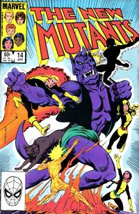 Cover Thumbnail for The New Mutants (Marvel, 1983 series) #14 [Direct Edition]
