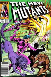 Cover Thumbnail for The New Mutants (Marvel, 1983 series) #16 [Newsstand Edition]