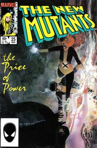 Cover Thumbnail for The New Mutants (Marvel, 1983 series) #25 [Direct Edition]