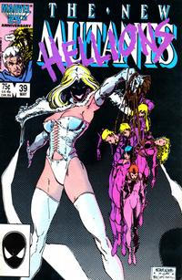 Cover for The New Mutants (Marvel, 1983 series) #39 [direct]