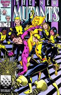 Cover Thumbnail for The New Mutants (Marvel, 1983 series) #43 [Direct]