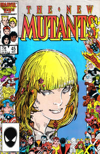Cover Thumbnail for The New Mutants (Marvel, 1983 series) #45 [Direct Edition]