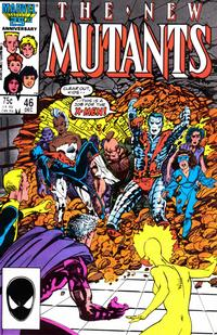 Cover for The New Mutants (Marvel, 1983 series) #46 [Newsstand Edition]