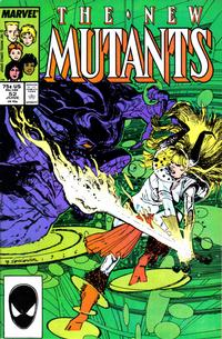 Cover Thumbnail for The New Mutants (Marvel, 1983 series) #52 [Direct Edition]