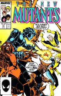 Cover for The New Mutants (Marvel, 1983 series) #53 [Direct Edition]