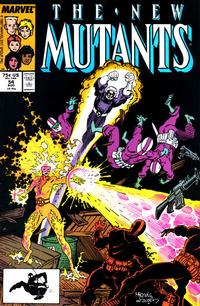 Cover for The New Mutants (Marvel, 1983 series) #54 [Newsstand Edition]