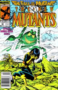 Cover Thumbnail for The New Mutants (Marvel, 1983 series) #60 [Newsstand Edition]