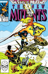 Cover Thumbnail for The New Mutants (Marvel, 1983 series) #61 [Direct Edition]