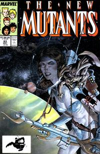 Cover Thumbnail for The New Mutants (Marvel, 1983 series) #63 [Direct Edition]