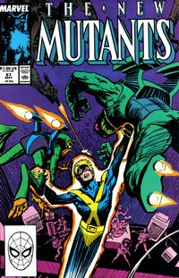 Cover Thumbnail for The New Mutants (Marvel, 1983 series) #67 [Direct Edition]