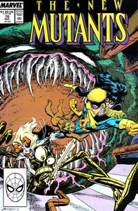 Cover Thumbnail for The New Mutants (Marvel, 1983 series) #70 [Direct Edition]