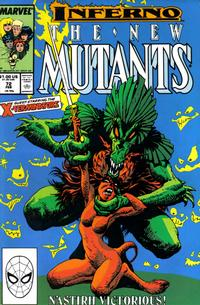 Cover Thumbnail for The New Mutants (Marvel, 1983 series) #72 [Direct Edition]