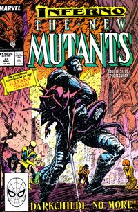 Cover for The New Mutants (Marvel, 1983 series) #73 [Newsstand Edition]