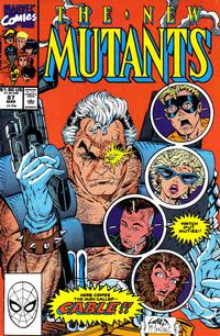 Cover for The New Mutants (Marvel, 1983 series) #87 [Second Printing]
