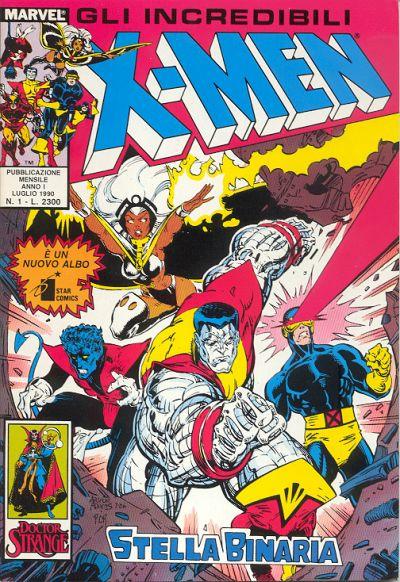 Cover for Gli Incredibili X-Men (Edizioni Star Comics, 1990 series) #1
