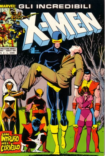 Cover for Gli Incredibili X-Men (Edizioni Star Comics, 1990 series) #2