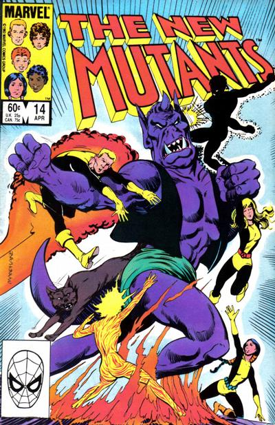Cover for The New Mutants (Marvel, 1983 series) #14 [Direct Edition]