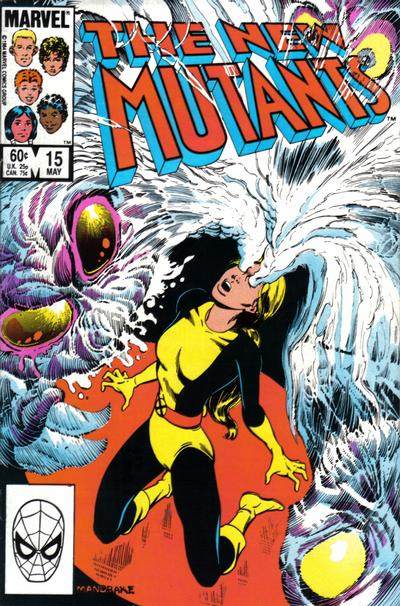 Cover for The New Mutants (Marvel, 1983 series) #15 [Newsstand Edition]