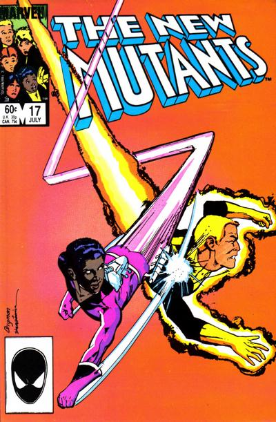 Cover for The New Mutants (Marvel, 1983 series) #17 [newsstand]