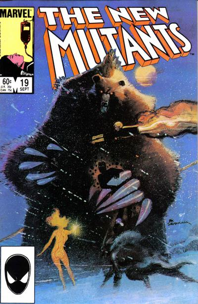 Cover for The New Mutants (Marvel, 1983 series) #19 [Newsstand Edition]