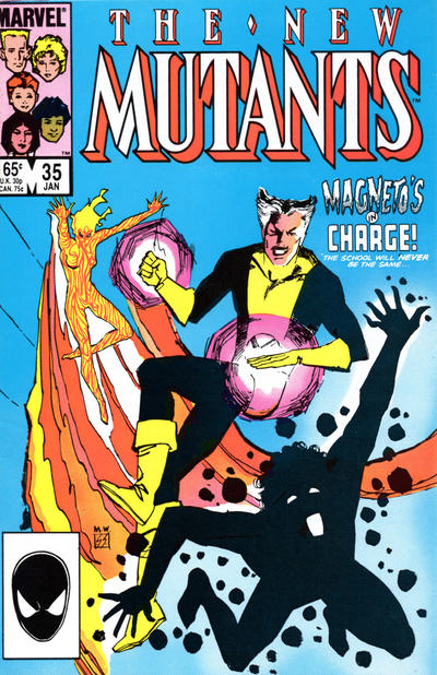 Cover for The New Mutants (Marvel, 1983 series) #35