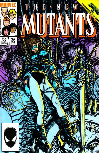 Cover for The New Mutants (Marvel, 1983 series) #36