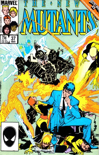 Cover for The New Mutants (Marvel, 1983 series) #37 [direct]