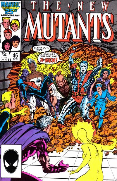 Cover for The New Mutants (Marvel, 1983 series) #46