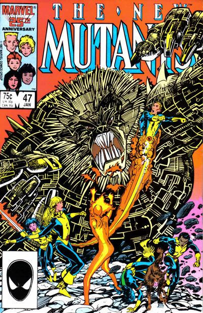 Cover for The New Mutants (Marvel, 1983 series) #47 [Direct Edition]