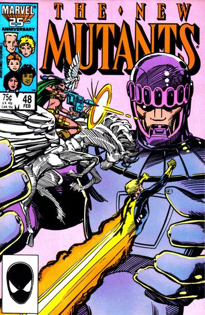 Cover for The New Mutants (Marvel, 1983 series) #48 [Newsstand Edition]