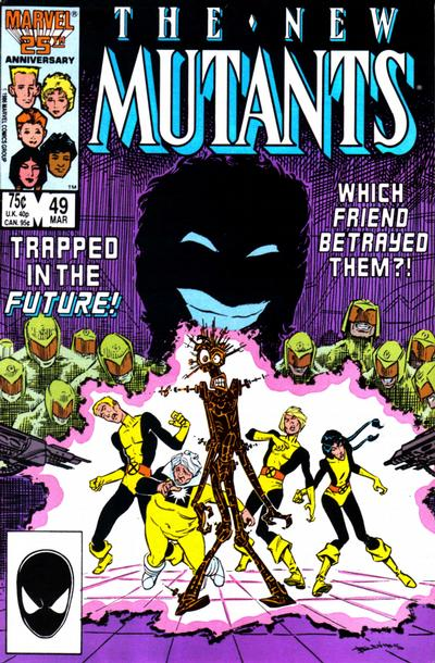 Cover for The New Mutants (Marvel, 1983 series) #49