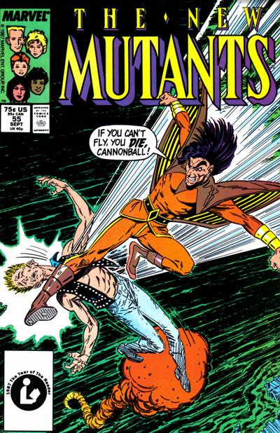 Cover for The New Mutants (Marvel, 1983 series) #55 [Newsstand Edition]