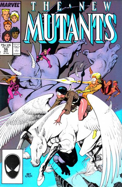 Cover for The New Mutants (Marvel, 1983 series) #56 [Newsstand Edition]