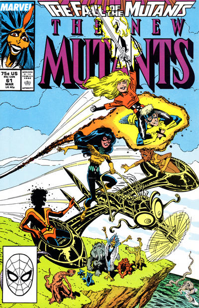 Cover for The New Mutants (Marvel, 1983 series) #61 [Newsstand Edition]