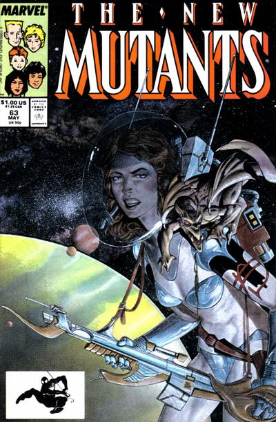 Cover for The New Mutants (Marvel, 1983 series) #63 [Direct Edition]