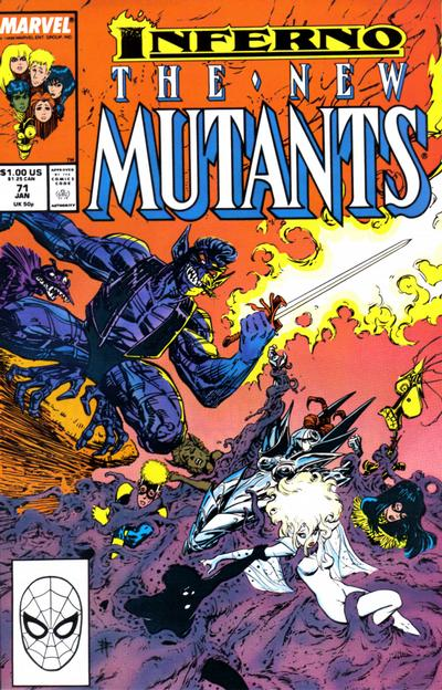 Cover for The New Mutants (Marvel, 1983 series) #71 [Direct Edition]