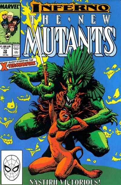 Cover for The New Mutants (Marvel, 1983 series) #72 [Direct Edition]