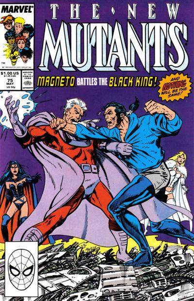 Cover for The New Mutants (Marvel, 1983 series) #75 [Newsstand Edition]