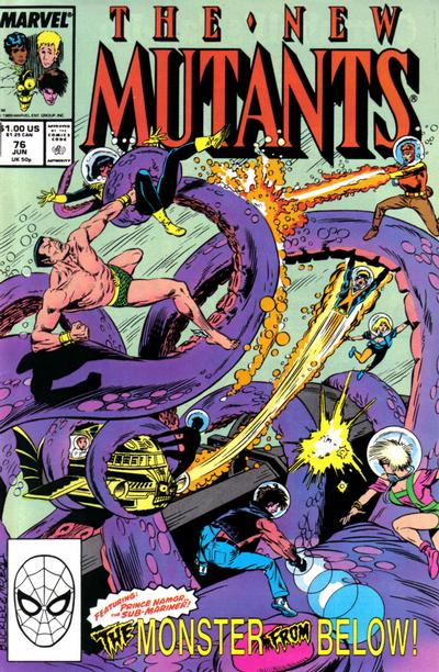 Cover for The New Mutants (Marvel, 1983 series) #76 [Newsstand Edition]