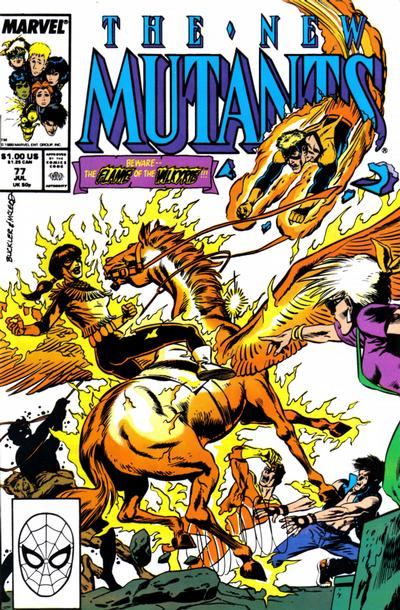 Cover for The New Mutants (Marvel, 1983 series) #77 [Newsstand Edition]