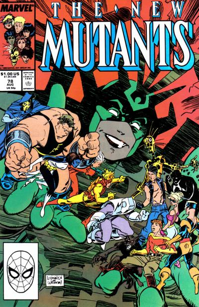 Cover for The New Mutants (Marvel, 1983 series) #78