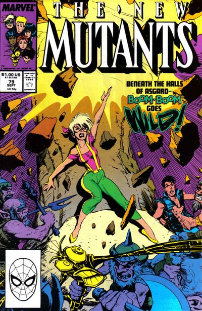 Cover for The New Mutants (Marvel, 1983 series) #79 [Direct Edition]