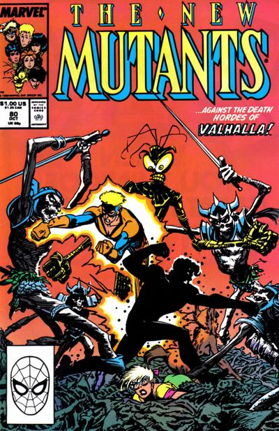 Cover for The New Mutants (Marvel, 1983 series) #80