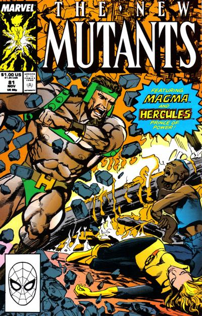 Cover for The New Mutants (Marvel, 1983 series) #81 [Newsstand Edition]