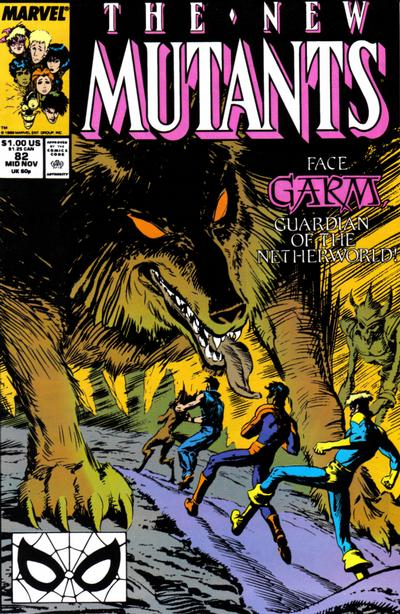 Cover for The New Mutants (Marvel, 1983 series) #82