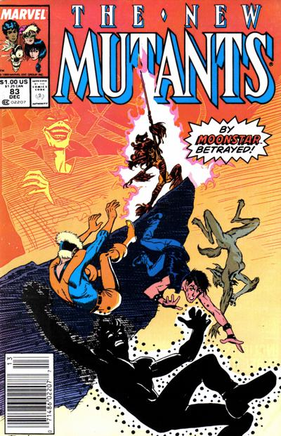 Cover for The New Mutants (Marvel, 1983 series) #83 [newsstand]