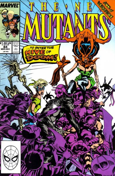 Cover for The New Mutants (Marvel, 1983 series) #84