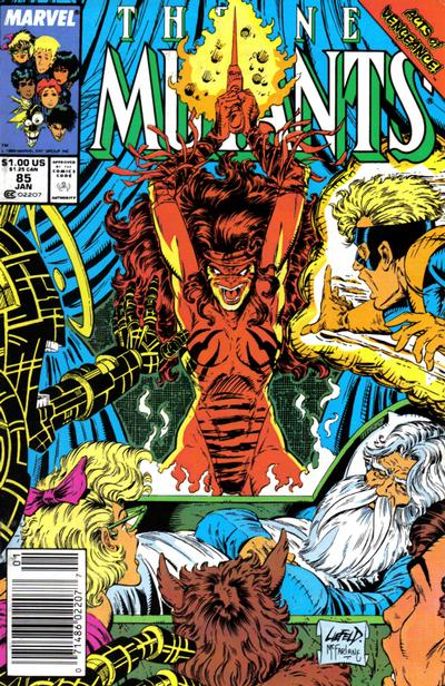 Cover for The New Mutants (Marvel, 1983 series) #85 [direct]